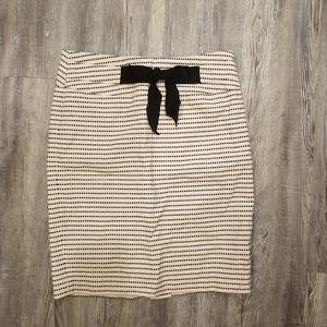 Forever 21 bow polka dot skirt
